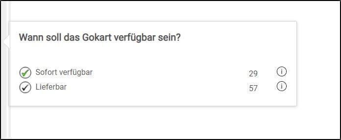 GOKART-FINDER Verfügbarkeit - gokart-profi.de