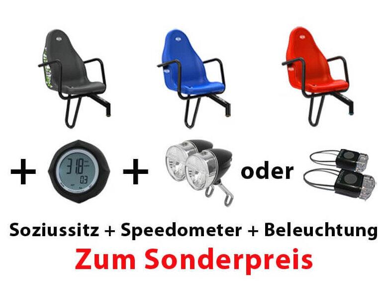 BERG Gokart Zubehör Aktion - Soziussitz + Speedometer + Beleuchtung - NUR bei gokart-profi.de