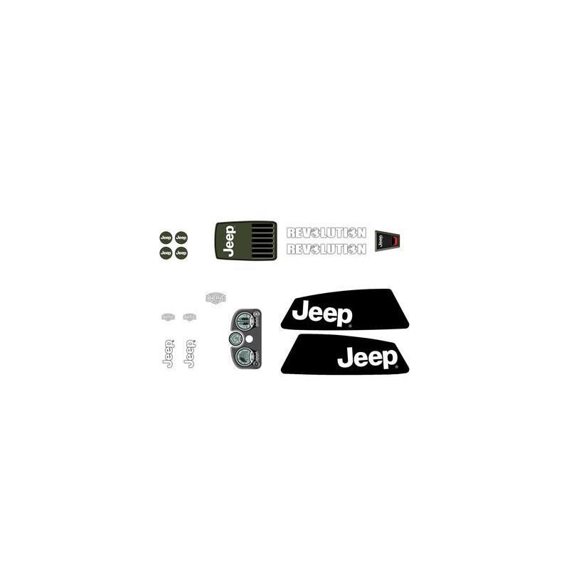 berg stickerset aufkleber jeep ersatzteil 50 27. Black Bedroom Furniture Sets. Home Design Ideas