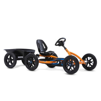 BERG Gokart Buddy B-Orange BFR inkl. Anhänger Junior