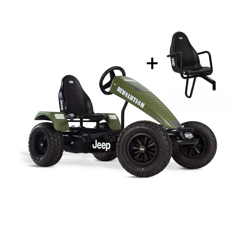 berg gokart jeep revolution 3 gang mit zusatzsitz 891 10. Black Bedroom Furniture Sets. Home Design Ideas