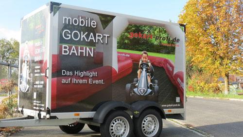 Mobile Gokartbahn Anhänger