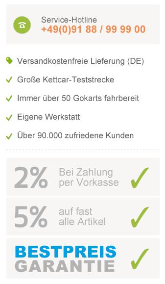 Ihre Vorteile bei gokart-profi.de